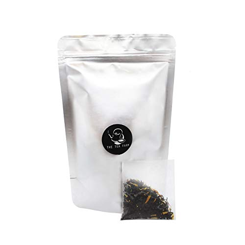 The Tea Farm - Mixed Mango Lilikoi (Passion Fruit) Black Fruit Tea - Premium Tropical Hawaiian Loose Leaf Black Tea Blend (15 Easy Tea Bags)