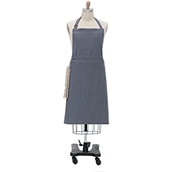 Kay Dee Designs Pin Striped Oversize Apron, Denim