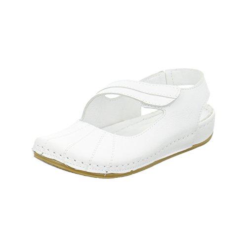 Empor Damen Ballerina Weiß
