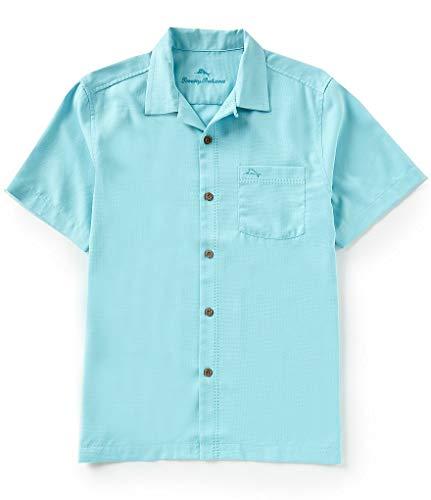 Tommy Bahama Island Zone Royal Bermuda Silk Blend Camp Shirt (Color: Blue Radiance, Size L)