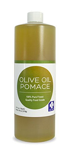 MD LIFE Olive Oil Pomace| 100% Organic Cold Pressed Olive Oil Pomace, Great Olive Oil Pomace for Hair, Skin & Face, Food-Grade Olive Oil Pomace for Cooking| Has All Olive Oil Benefits| 32oz Bottle