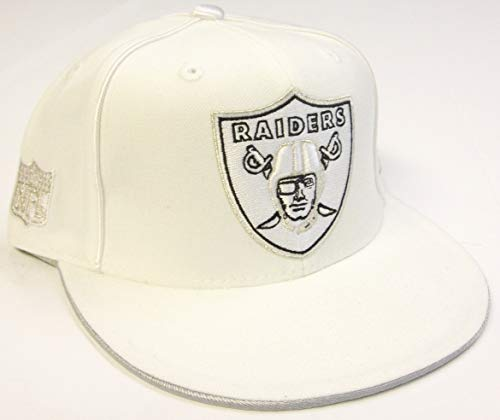 182c5ea622a Oakland Raiders Flat Bill Hats. Reebok Oakland Raiders NFL White ...