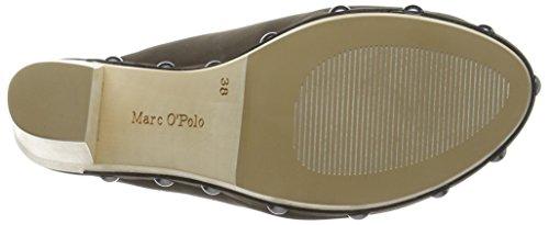 Marc OPolo Sabot Damen Plateau Sandalen mit Blockabsatz Grau (dark grey 930)