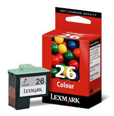 Lexmark Genuine Brand Name, OEM 10N0026 No. 26 (Lexmark #26) Color Inkjet Cartridge (275 YLD) for Lexmark i3 Color, X75, X1150, X1185, X2250, Z13, Z23, Z25, Z33, Z35, Z75, Z515, Z605, Z611, Z615, Z616; Compaq IJ650 Printers