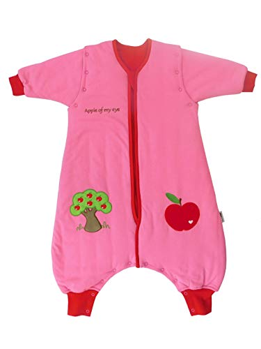 Feet Long Sleeve - Slumbersac Sleeping Bag with Feet and Removable Long Sleeves, 2.5 Tog -Red Apple - 6-12 Months/Size: 70 cm