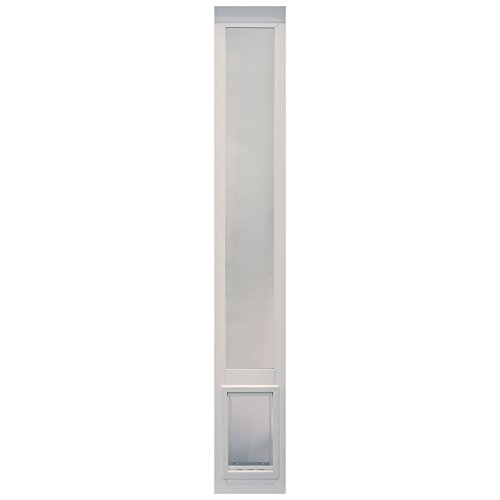 "Vinyl Pet (Ideal Pet Products Non Insulated Vinyl Pet Patio Door, White, Medium, 6 5/8"" x 11 1/4"" Flap Size)"