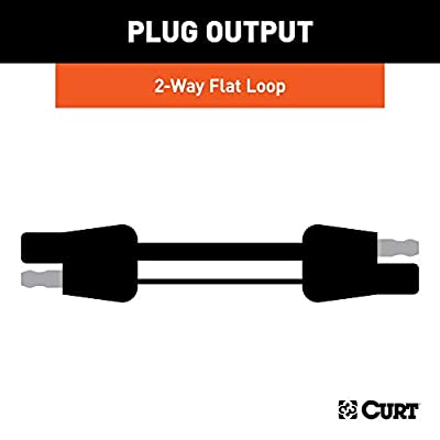 CURT 58020 2-Way Flat Wiring Harness with 12-Inch Wires: Automotive