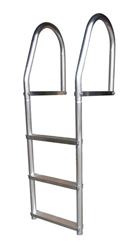 Dock Edge ECO Weld Free Fixed Dock Ladder, 3 Steps, Aluminum (3 Step Dock Ladder)