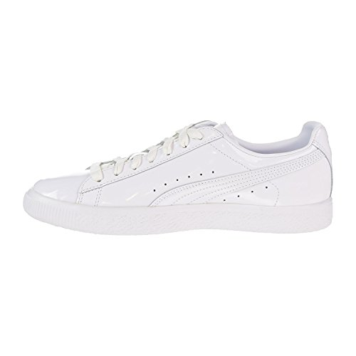 White PUMA Lace Shoes Clyde up Sneakers Leather Dessed Mens xrwtqgr