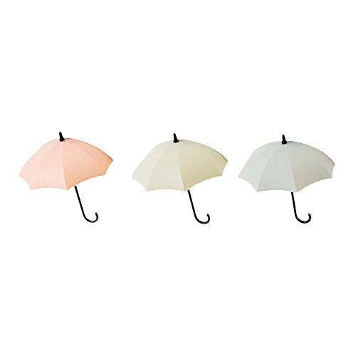 Birdfly Unique Cute Umbrella Style Wall Hanger Hook Decorative Shelf (4cm12.5cm, (Anchor Wire Brass Hooks)