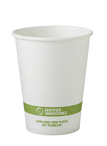 World Centric CU-PA-12 100% Compostable FSC Mix Paper Hot Cups, 12 oz, White (Pack of 1000) (Paper Pack World)