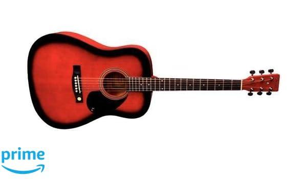 Tenson F501304 - Guitarra acústica D-1,diseño red burst: Amazon.es: Instrumentos musicales