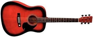 Tenson F501304 - Guitarra acústica D-1,diseño red burst