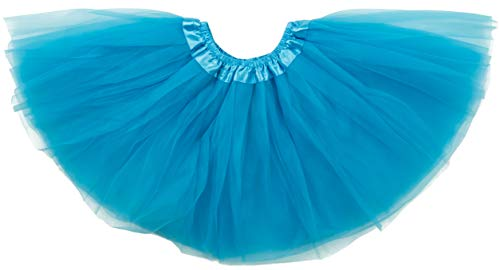 Dancina Tutu Little Kids Pretty Retro Tulle Petticoat Vintage Birthday Dresses 2-7 Years Turqoise ()