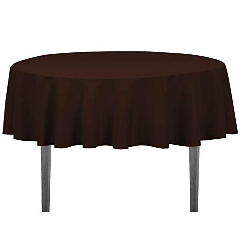 - LinenTablecloth 70-Inch Round Polyester Tablecloth Chocolate