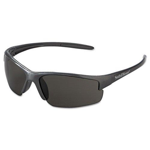 (Smith & Wesson Equalizer Safety Eyewear, Gun Metal Frame, Smoke Anti-Fog Lens - 1 pair of safety glasses.)