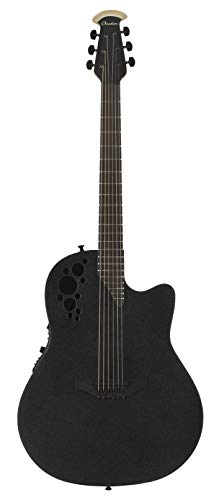 Ovation Mod TX Collection Acoustic-Electric Guitar, Textured Black, Deep Contour Body (2078TX-5)