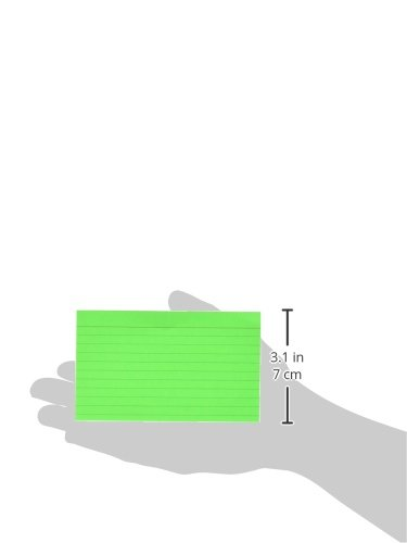BAZIC 75 Count 3'' X 5'' Ruled Fluorescent Colored Index Card (596) by Bazic (Image #1)'