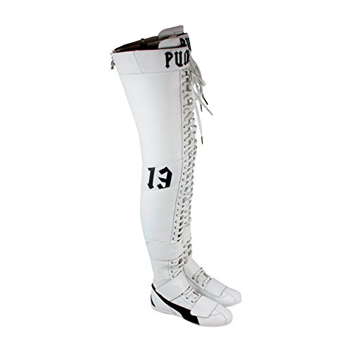 PUMA Eskiva OTK Leather Rihanna Womens White Leather Lace Up Boots Shoes (Puma Boots For Women)