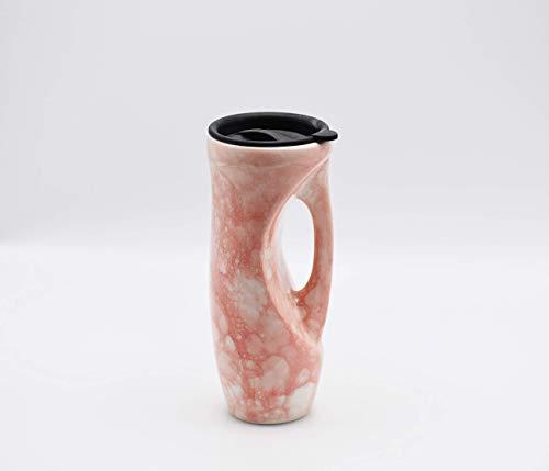 Handmade ceramic travel mug, 24 oz jumbo travel mug