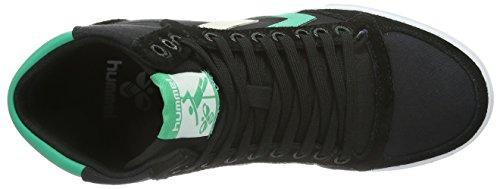 hummel HUMMEL SLIMMER STADIL HIGH - Zapatillas de lona para hombre Black/Emerald 2797