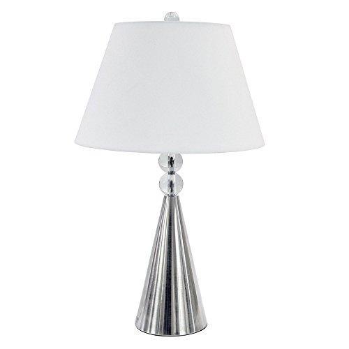 (Dainolite C511T-SC 1 Light Crystal Table Lamp Satin Chrome)