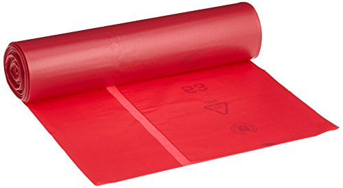 Vuilniszakken DEISS PREMIUM rood 70 of 120 liter, 120 Liter – 60 my, rood, 1