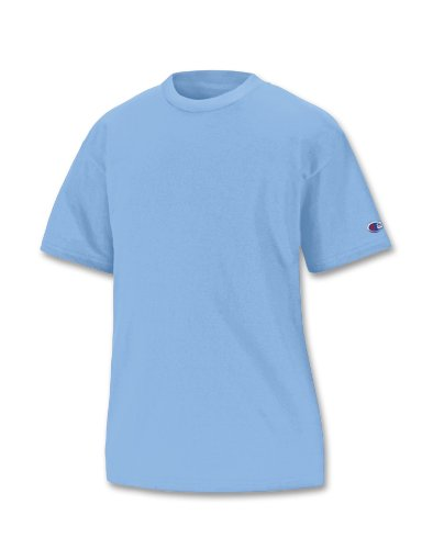 (Champion Youth Short Sleeve Tee, XL-Light Blue)