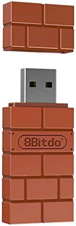 OWSOO Substituição do adaptador 8Bitdo Wireless BT para Nintendo Switch Windows Mac e receptor sem fio Raspber