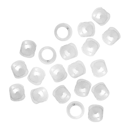 - Silver Plated Barrel Crimp Beads 2.5x3mm (50)