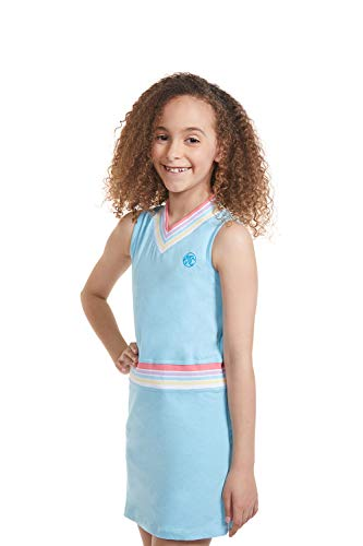Girl Tennis Outfit - Sleeveless V Neck Tennis Dress with Shorts
