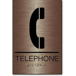 1 Unit Telephone Sign-Copper//Black