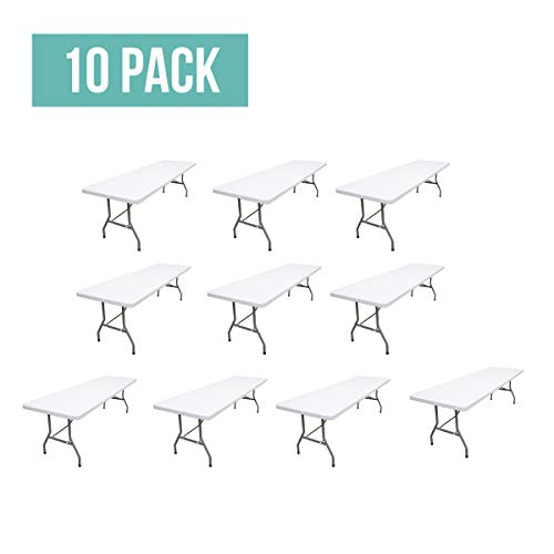EventStable TitanPRO Plastic Folding Table - 8' x 30'' - 10 Pack]()