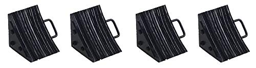 Vestil LWC-15 Laminated Rubber Wheel Chock, Overall W x L x H (in.) 10-1/4 x 5-1/2 x 11 (4-(Pack))