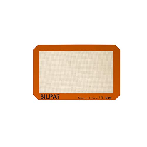 Silpat Non-Stick Silicone Baking Mat, Petite Jelly Roll Size, 8-1/4