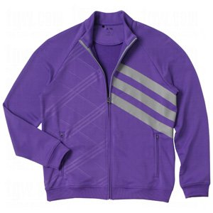 - Adidas Mens Fashion Performance Full-Zip 3-Stripes Jackets Small Purple/Zone