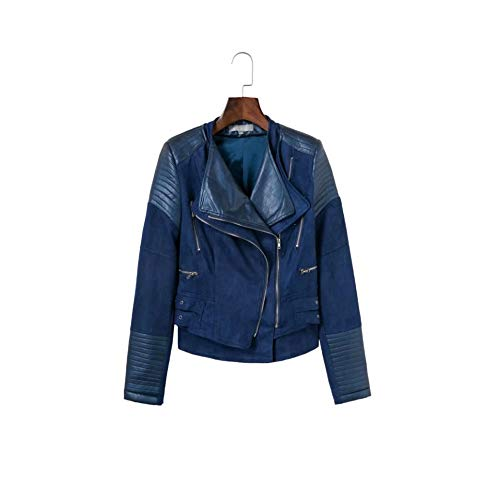 S Pu La Size Femme Pour Regular Coupe En Dames color Slim Veste Blouson À vent Navy Cuir Short Navy Imitation Small Courte Chengzuoqing De Mode qgOPBx