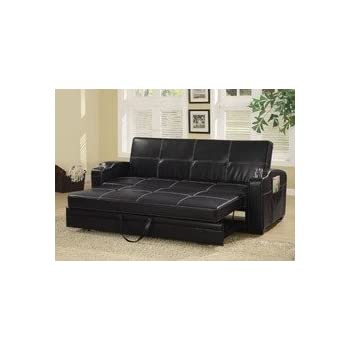 Amazon.Com: Furniture Of America Preston Tufted Leather Sleeper