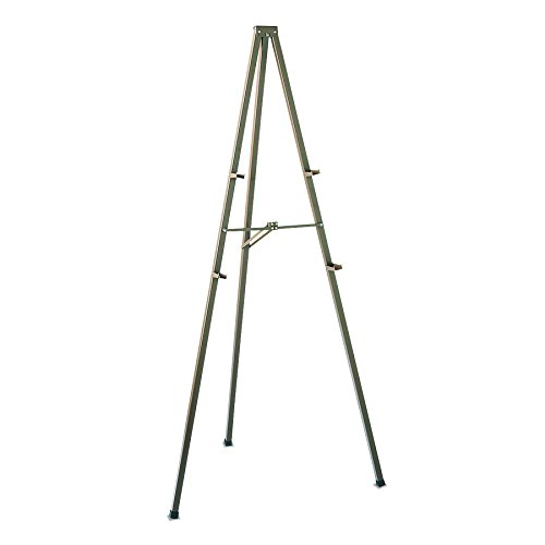 Quartet 21E Bronze Finish Steel Easel, 72 High, Folds to 4w x1d x72h