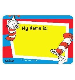 Dr. Seuss Name Tag Stickers - 25 - Hat Tags Name