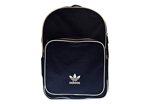 (adidas Unisex Originals Classic Backpack Blue White Trefoil Bookbag)