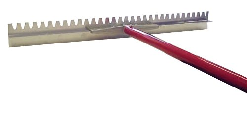 MARSHALLTOWN The Premier Line RED700029C 36-Inch Sharp Magnesium Lute Rake with T-Connector and 6-Foot Handle