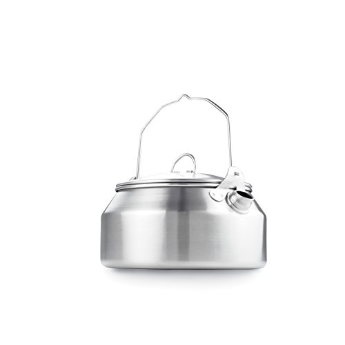 GSI Outdoors - Glacier Stainless Steel Kettle - 1 Quart - Camping & Backpacking