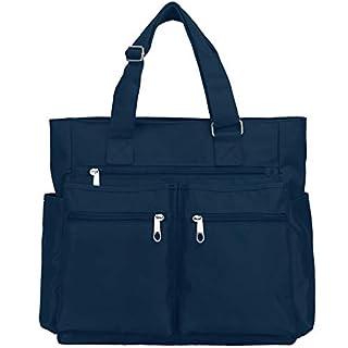 Canvas Tote Bag Waterproof Nylon Multi Pocket Shoulder Bags Laptop Work Bag Teacher Purse and Handbags for Women & Men
