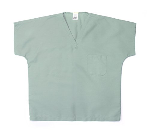 Pinnacle Textile ST90U 4.25 OZ 65/35 Polyester/Cotton, Unisex Reversible Scrub TOP-Small-Misty Green