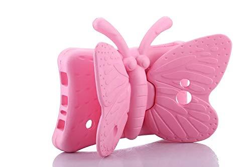 For Galaxy Tab A/A6 7.0, Tab 3 Lite 7.0, Tab 4 7.0 Case, BAUBEY Kids Butterfly Case for Samsung Galaxy Tab A/A6 7.0 SM-T280 T285, Tab 4 7.0 SM-T230 T235 T237, Tab 3 Lite 7.0 SM-T110 T111 T113, Pink (Galaxy Tap 3 Kids Case)