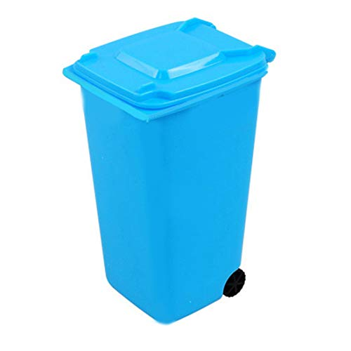 MECO(TM) Trash Can and Recycling Mini Storage Bin Pen Holder (Sky Blue)