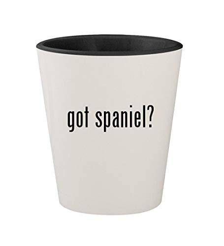 got spaniel? - Ceramic White Outer & Black Inner 1.5oz Shot -