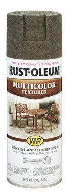 12 Oz Deep Forest Green Multicolor Textured Stops Rust Spray Paint [Set of 6] ()