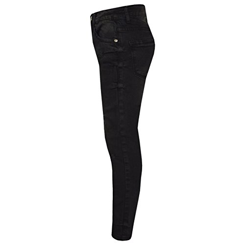 Girls Stretchy Jeans Kids Black Denim Ripped Pants Frayed Trousers Age 5-13 Year by A2Z 4 Kids (Image #2)
